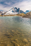 Lac Blanc And Aiguille Verte Mountain - France Royalty Free Stock Photography