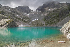 Lac Blanc. In the Aiguilles Rouges National Nature Reserve, French Alps Stock Photos