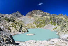 Lac Blanc of Chamonix. Pale blue lake of Chamonix Mont Blanc Royalty Free Stock Photos