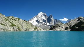 Lac Blanc, Chamonix, France. Lac Blanc near Chamonix, surrounded by mountains Stock Photos