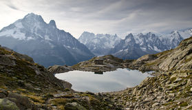 Lac Blanc - French Alps Royalty Free Stock Photos