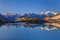 Lac Blanc, Graian Альпы, Франция Стоковое фото RF