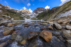 Lac Blanc, Graian Alps, France Royalty Free Stock Photo