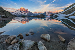 Lac Blanc, Graian Alps, France Royalty Free Stock Images