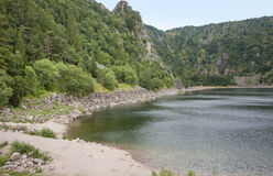 Lac Blanc. Lake named Lac Blanc in the Vosges mountains in Alsace, France Stock Photo