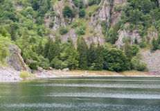 Lac Blanc. Lake named Lac Blanc in the Vosges mountains in Alsace, France Stock Photos