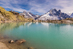 Lac Blanc And And Mountain Range - France Royalty Free Stock Photos