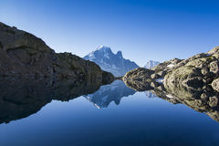 Lac Blanc reflection Royalty Free Stock Images