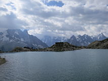 Lac Blanc in summer. Lac Blanc near Chamonix, France in summer Royalty Free Stock Photo