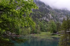 Lac Blausee, Suisse image stock