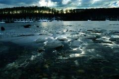 Lac bleu Image libre de droits