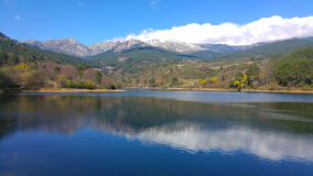 Lac bleu Photographie stock