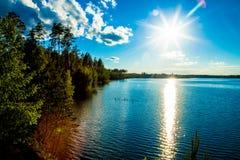 Lac bleu Photo stock