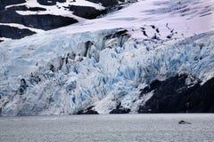 Lac bleu Anchorage Alaska glacier de Portage photographie stock