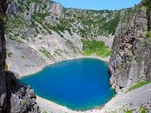 Lac bleu en Croatie Photographie stock