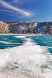 Lac bleu figé Images libres de droits