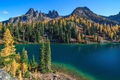 Lac bleu, Washington State Photographie stock libre de droits
