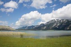 Lac Blidinje en la Bosnie-et-Herzégovine Image stock