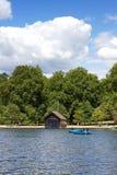 Lac boating images libres de droits