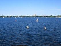 Lac boating Photo libre de droits