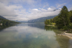 Lac Bohinj Photographie stock