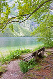 Lac Bohinj Photo stock