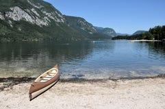 Lac Bohinj en Slovénie Photographie stock libre de droits