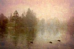 Lac Bohinj Slovénie rétro Image libre de droits