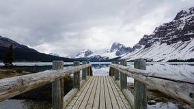 Lac bow, Alberta, Canada Photos libres de droits