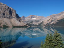 Lac bow chez Jasper National Park Image stock