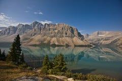 Lac bow - stationnement national de Banff Image stock