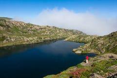 Lac Brévent, Brevent jezioro w - Chamonix Mont Blanc, Francja - Obrazy Stock