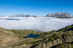Lac Brévent - Brevent lake in Chamonix Mont-Blanc - France Stock Images