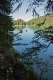 Lac Braies Photographie stock