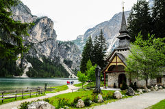 Lac Braies Images stock