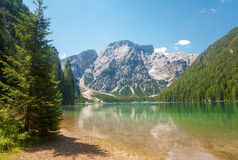 Lac Braies, dolomites Images stock