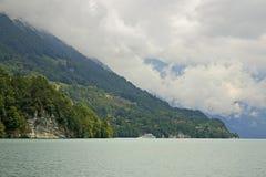 Lac Brienz à Interlaken switzerland photographie stock