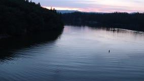 Lac Britton California banque de vidéos
