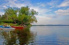 Lac Burabay dans la région d'Akmola Image libre de droits