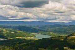 Lac Butoniga et les nuages Image libre de droits