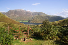 Lac Buttermere, district de lac, R-U Photo libre de droits