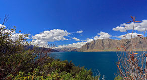 Lac célèbre Hawea Photographie stock libre de droits