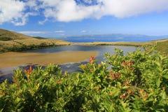 Lac Caiado aux Açores Image stock