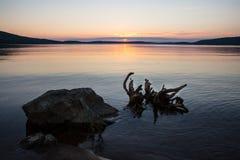 Lac calme photo stock