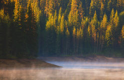 Lac calme fogy image stock