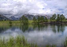 Lac Canmore Alberta quarry Images libres de droits