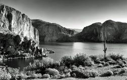 Lac canyon de désert Image libre de droits
