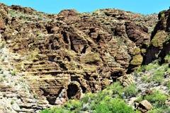 Lac canyon, le comté de Maricopa, Arizona, Etats-Unis Images libres de droits