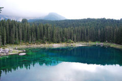 Lac Carezza Photos libres de droits