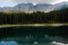 Lac Carezza Photos libres de droits